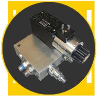 Solenoid valve block