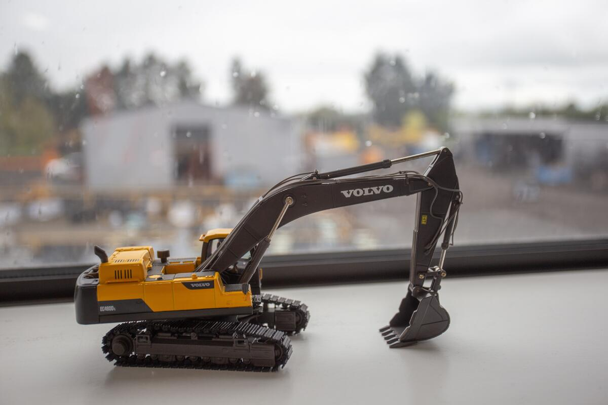 Die-Cast Toy Digger Excavator